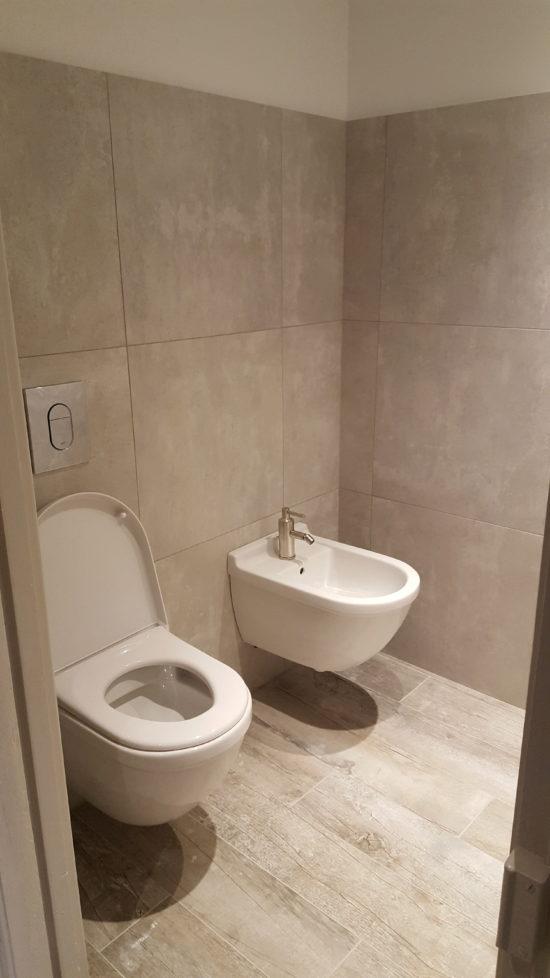WC suspendu et bidet